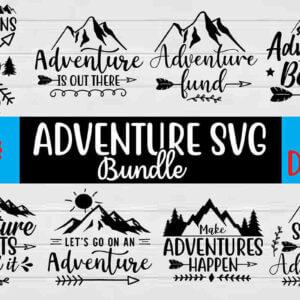 Adventure SVG Bundle, Invitations, Scrapbooking, Paper Crafting, Invitations, Decorations, T-Shirts