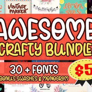 Awesome Crafty Font Bundle – Vol. 01