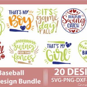 Baseball SVG Design Bundle