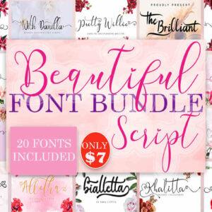 Beautiful Script Fonts Bundle