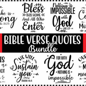Bible Verse Quotes Bundle