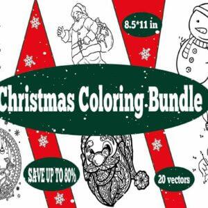 Christmas Coloring Bundle