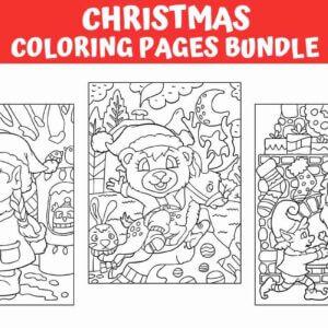 Christmas Coloring Pages Bundle