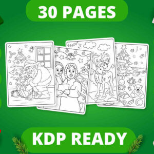 Christmas Coloring Pages for Kids Vol 2, Coloring Pages & Books, Kdp Coloring Books