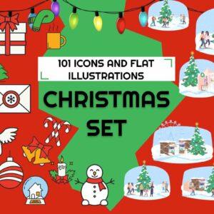 Christmas Icons & Illustrations Bundle