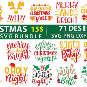 Christmas SVG Bundle – 71 Design