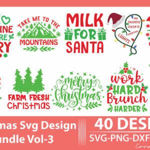 Christmas SVG Design Bundle Vol-3