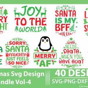 Christmas SVG Design Bundle Vol-4