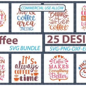 Coffee SVG Bundle, Coffee is My Love Language, Coffee Break, Life Begins After Coffee