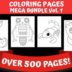 Coloring Pages Mega Bundle Vol.1