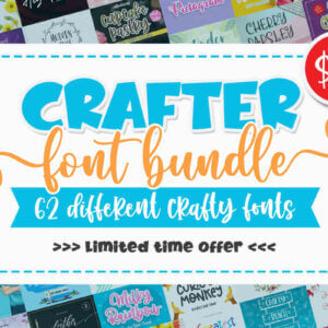 62 Different Crafty Fonts, Crafter Font Bundle, Lemonade Fabrica, Greatest Holiday