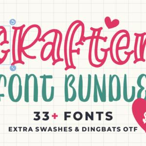 Crafter Font Bundle