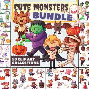 Cute Monsters Halloween Bundle