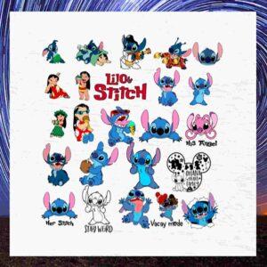 Disney Stitch SVG Bundle, Stitch bundle, Lilo cut file, Stitch clipart, Lilo svg files for silhouette, files for cricut, svg, dxf, eps, png