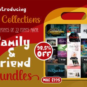 Family & Friend Font Bundle