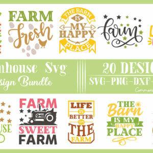 Farmhouse SVG Designs Bundle