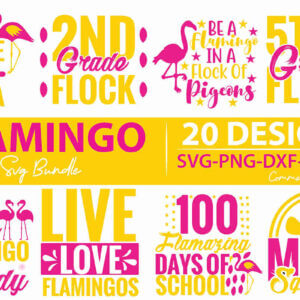 Flamingo SVG Bundle, WHAT the FLOCK, I Don't Give a Flock