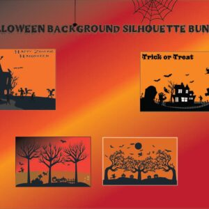 Halloween Background Silhouette Bundle