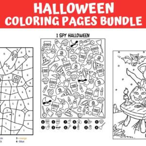 Halloween Coloring Pages Bundle