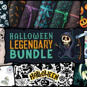 Halloween Legendary Bundle, Decorative Vector Skulls, Halloween Pumpkins