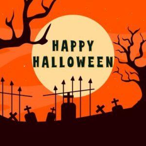Halloween Haunted House Background Bundle