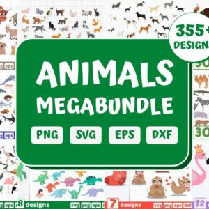 355+ Huge Animals Mega Bundle, Dogs bundle, Forest animals bundle, Dinosaurs bundle