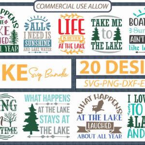 Lake SVG Bundle, Life is Better at the Lake, Keep It Reel at the Lake, Take Me to the Lake
