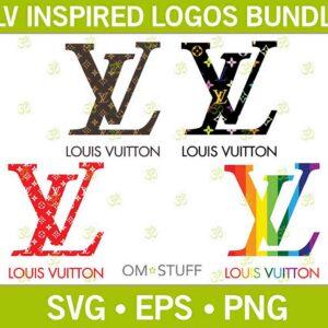 Louis Vuitton Logos Fashion SVG Bundle – Design Cut File For Silhouette, Cricut, Sublimation Svg/Png/Eps