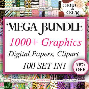 1000+ Mega Bundle Graphics, Halloween Marble Digital Papers