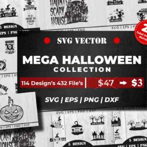 Mega Halloween Collection SVG Vector