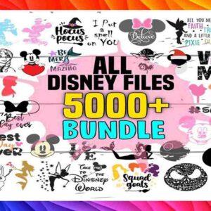 5000+ All Disney Files SVG Bundle – SVG Files for Cricut, Huge Svg bundle, Clipart Svg, Cut files Svg