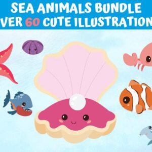 Sea Animals Under Water Bundle
