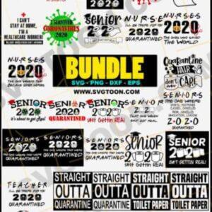 Senior 2020 SVG Bundle, Sh Just Got Real, Tissue 2020 svg, Graduation 2020 svg, Social Distancing, Quarantined, SVG, DXF