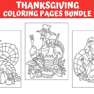 Thanksgiving Coloring Pages Bundle