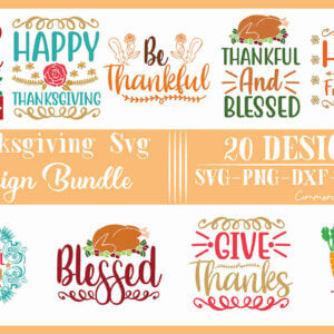 Thanksgiving SVG Designs Bundle