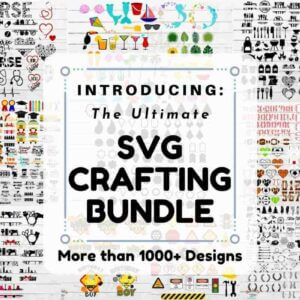 1000+ The Ultimate SVG Crafting Bundle, Christmas Giving Plate, Christmas Friends Split Monogram