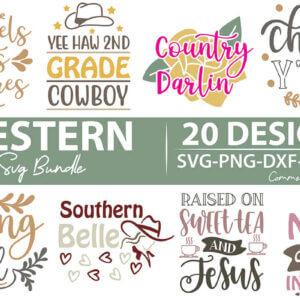 Western SVG Bundle, Sweet Southern Mess, Southern, Cowgirl, Cowboy